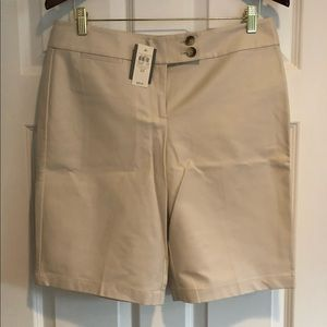 Ann Taylor dressy khaki shorts